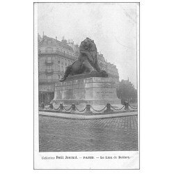 carte postale ancienne PARIS 14. Le Lion de Belfort. Collection Petit Journal