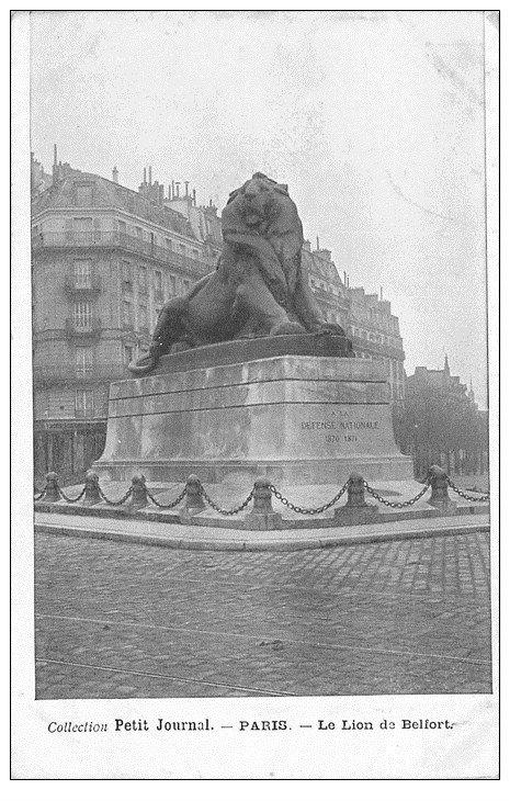 PARIS 14. Le Lion de Belfort. Collection Petit Journal