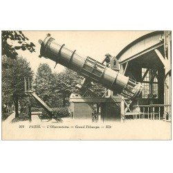 carte postale ancienne PARIS 14. L'Observatoire Grand Télescope