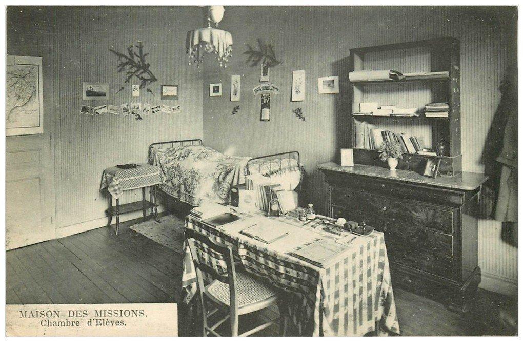 carte postale ancienne PARIS 14. Maison des Missions 102 Boulevard Arago. Chambre Elève