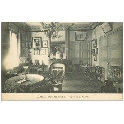 carte postale ancienne PARIS 14. Maison des Missions 102 Boulevard Arago. Salon