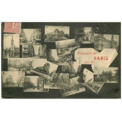 carte postale ancienne PARIS 14. Multivues 1906