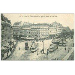 carte postale ancienne PARIS 14. Place de Rennes rue de l'Arrivée