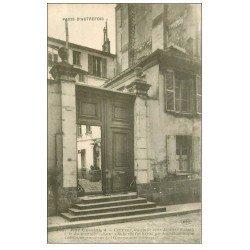 carte postale ancienne PARIS 14. Portail au 4 rue Cassini