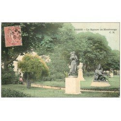 carte postale ancienne PARIS 14. Square de Montrouge 1905