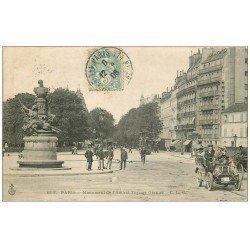carte postale ancienne PARIS 14. Superbe Voiture ancienne et Monument Garnier 1906