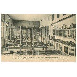 carte postale ancienne PARIS 15. Ecole Electricité Mécanique Industrielles 50 rue Violet