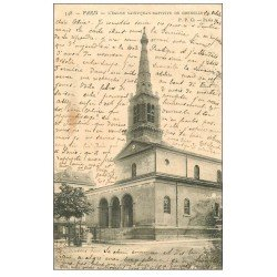 carte postale ancienne PARIS 15. Eglise Saint-Jean-Baptiste de Grenelle 1904