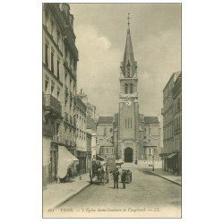 carte postale ancienne PARIS 15. Eglise Saint-Lambert de Vaugirard 1912