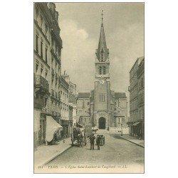 carte postale ancienne PARIS 15. Eglise Saint-Lambert de Vaugirard 1912