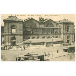 carte postale ancienne PARIS 15. Gare Montparnasse 1923