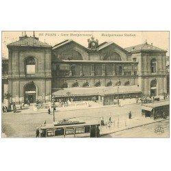 carte postale ancienne PARIS 15. Gare Montparnasse 1923