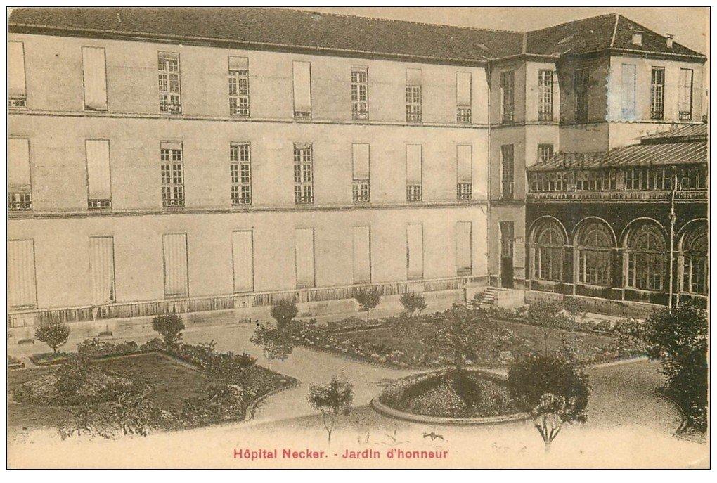 paris 15 h pitaux h pital necker jardin rue de s vres 1927. Black Bedroom Furniture Sets. Home Design Ideas