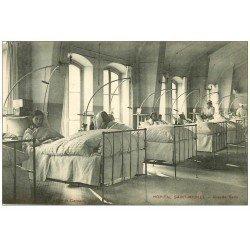 carte postale ancienne PARIS 15. Lits de Malades Hôpital Saint-Michel 33 rue Olivier de Serres Salle Sainte-Marie