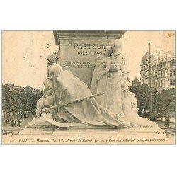 carte postale ancienne PARIS 15. Monument pour Pasteur 1904. Timbre absent
