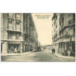 carte postale ancienne PARIS 15. Pharmacie Rue Desaix et Boulevard de Grenelle Café Tabac