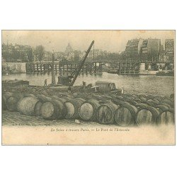 PARIS 15. Pont de l'Estacade entrepôt de barils et tonneaux 1904