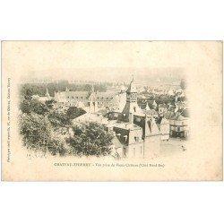 carte postale ancienne 02 CHATEAU-THIERRY. 1902 Vue prise du Vieux Château