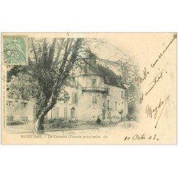 carte postale ancienne 10 LES RICEYS. Château de Ricey-Bas 1902 Façade