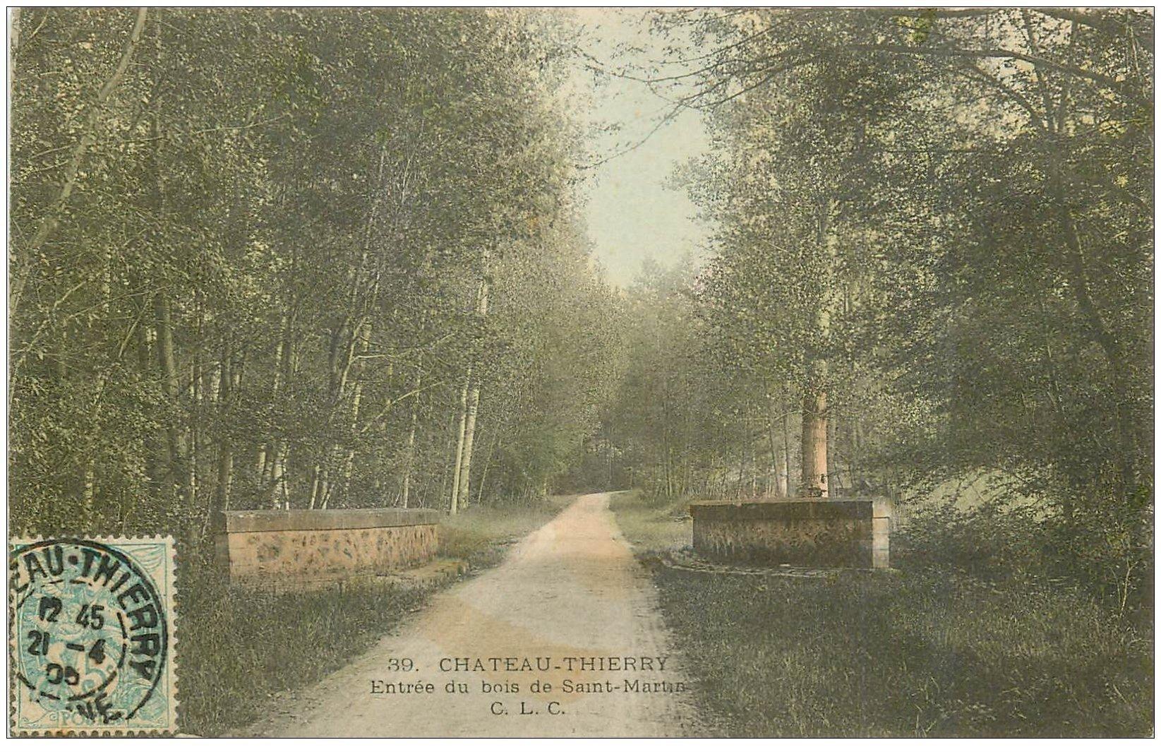 carte postale ancienne 02 CHATEAU-THIERRY. Bois de Saint-Martin 1905