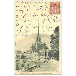 carte postale ancienne 10 LES RICEYS. Eglise de Ricey-Bas 1902 écriture bizare...