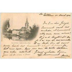 carte postale ancienne 10 LES RICEYS. Eglise de Ricey-Haut 1901