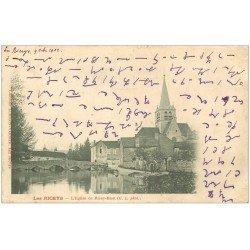 carte postale ancienne 10 LES RICEYS. Eglise de Ricey-Haut 1902. Ecriture spéciale...