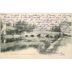 carte postale ancienne 10 LES RICEYS. Pont de Ricey-Haute-Rive 1903