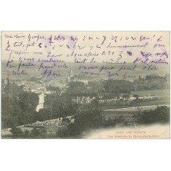 carte postale ancienne 10 LES RICEYS-HAUTE-RIVE. Vue générale 1903 et Cimetière. Ecriture spéciale...