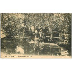 carte postale ancienne 10 MAILLY-LE-CAMP. Bords de l'Huitrelle 1913
