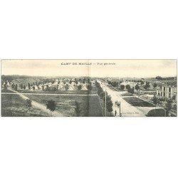 carte postale ancienne 10 MAILLY-LE-CAMP. Carte double Panoramique repliable. Vue générale (défaut) 28 x 9 cm