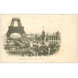 carte postale ancienne PARIS EXPOSITION UNIVERSELLE 1900. Pavillon Equateur. Timbre 10 centimes 1900