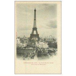 carte postale ancienne PARIS EXPOSITION UNIVERSELLE 1900. Pont Alexandre III. Chocolat Masson. Envoyée en 1899
