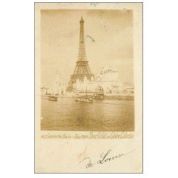 carte postale ancienne PARIS EXPOSITION UNIVERSELLE 1900. Pont Alma