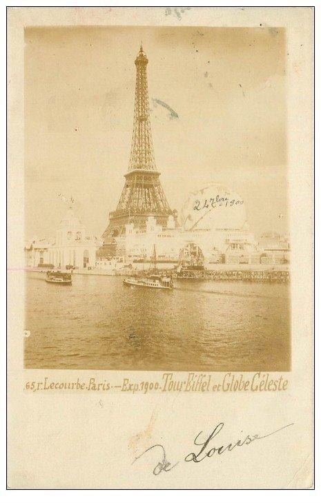 carte postale ancienne PARIS EXPOSITION UNIVERSELLE 1900. Pont Alma