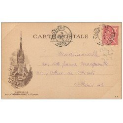 carte postale ancienne PARIS EXPOSITION UNIVERSELLE 1900. Porte des Invalides