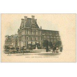 carte postale ancienne PARIS EXPOSITION UNIVERSELLE 1900. Vieux Paris. Timbre 10 centimes et Bénédictine à Fécamp