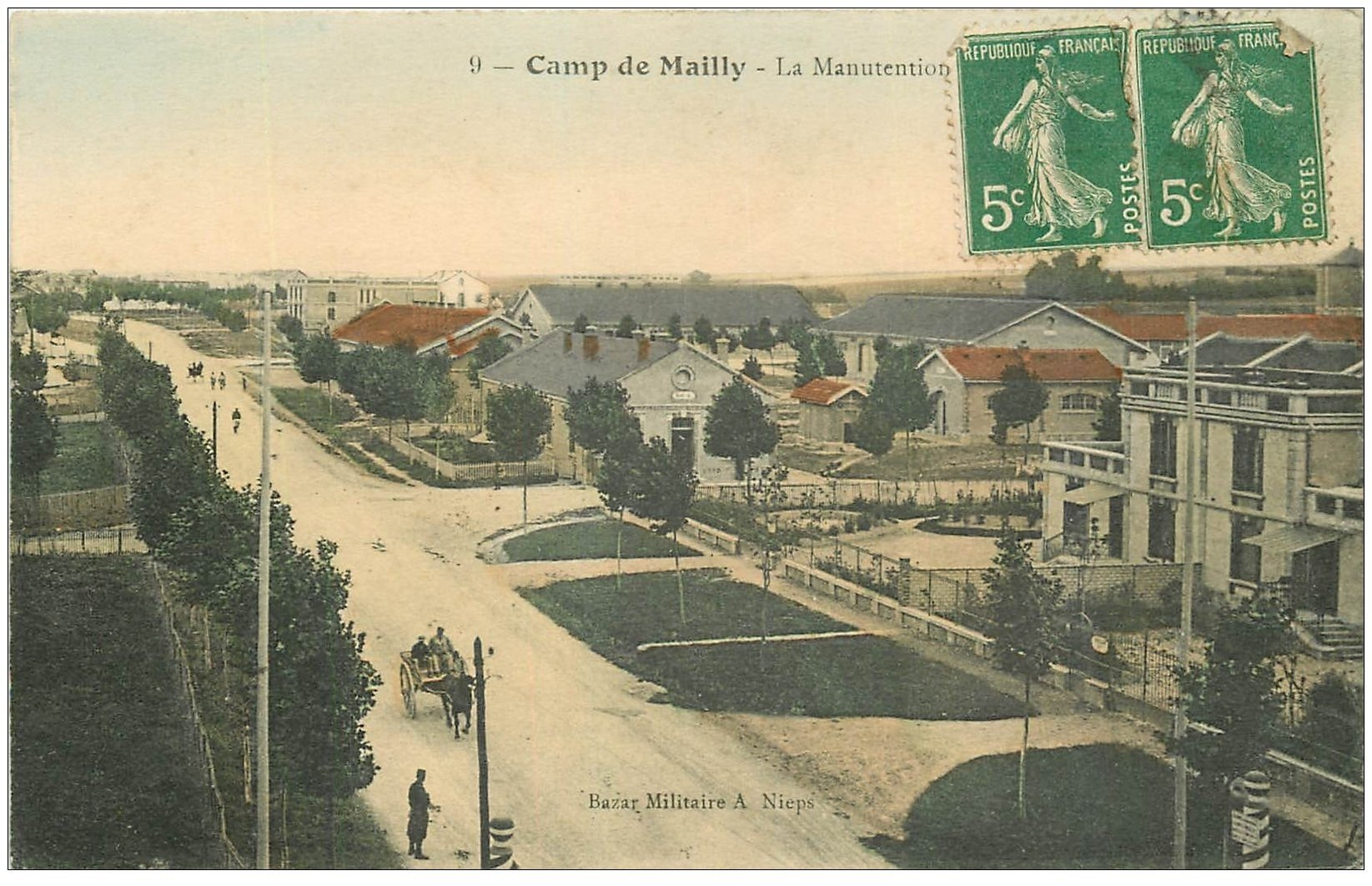 carte postale ancienne 10 MAILLY-LE-CAMP. La Manutention 1913