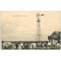 carte postale ancienne 10 MAILLY-LE-CAMP. L'Abattoir avec Eolienne Zephir