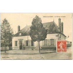 carte postale ancienne 10 MAILLY-LE-CAMP. Le Bureau de Postes 1908 (défaut)...