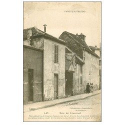 carte postale ancienne PARIS 15. Rue de Lourmel ancien Hameau de Javel