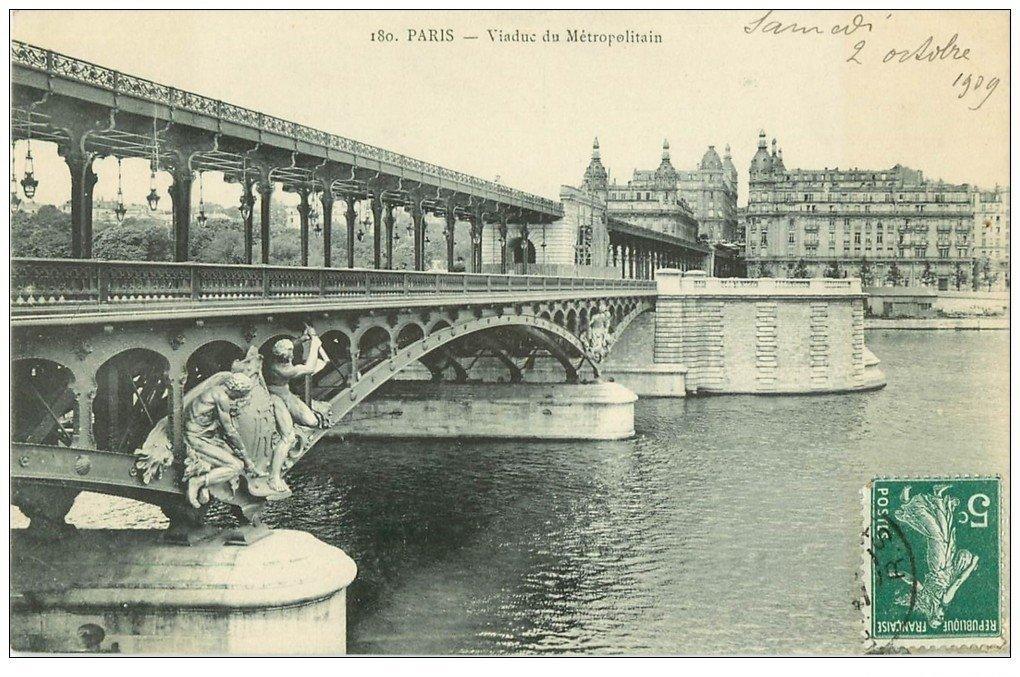 PARIS 15. Viaduc du Métropolitain 1909