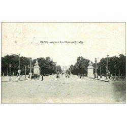 carte postale ancienne PARIS 16. Avenue des Champs Elysées 1912