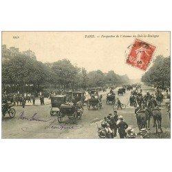 carte postale ancienne PARIS 16. Avenue du Bois de Boulogne Gardes Républicains 1909