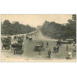 carte postale ancienne PARIS 16. Avenue du Bois de Boulogne n° 93 Calèches et poussette