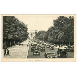 carte postale ancienne PARIS 16. Avenue Foch 1943