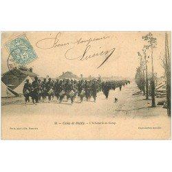 carte postale ancienne 10 MAILLY-LE-CAMP. L'Infanterie 1914. Défilé de la Fanfare Militaire