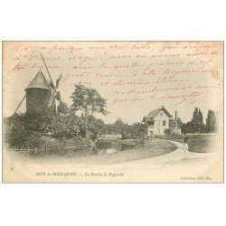 carte postale ancienne PARIS 16. Bois Boulogne Moulin de Bagatelle 1903