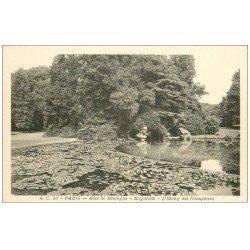 carte postale ancienne PARIS 16. Bois de Boulogne. Bagatelle Etang des Nénuphars