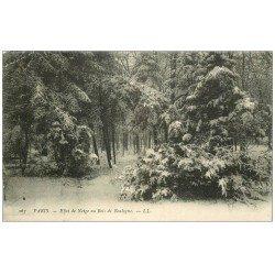 carte postale ancienne PARIS 16. Bois de Boulogne. Effet de Neige 1905